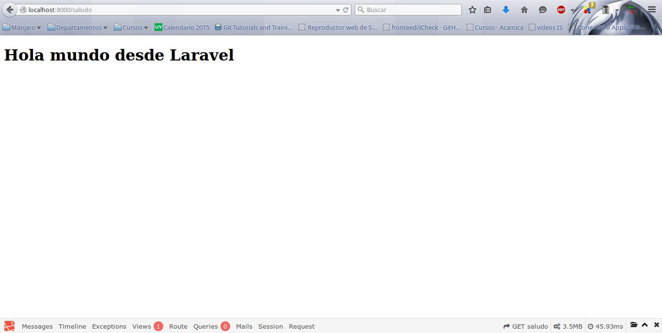 Capítulo 10. Vistas y motor de plantillas Blade · laravel-5